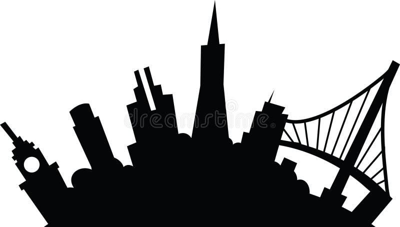 Fumetto San Francisco illustrazione di stock