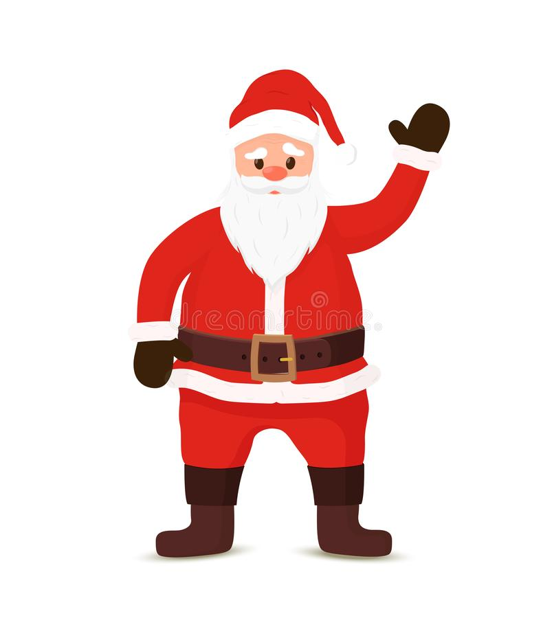Fumetto Santa Claus di vettore che dà il benvenuto con ciao royalty illustrazione gratis