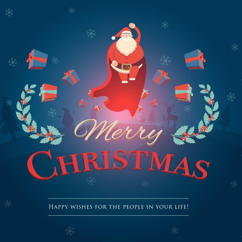 Fumetto Santa Claus in varia raccolta di pose Padre allegro royalty illustrazione gratis