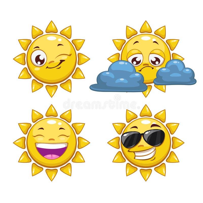Fumetto Sun illustrazione vettoriale