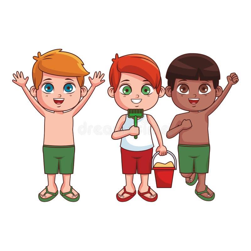 Fumetto sveglio dei ragazzi illustrazione vettoriale