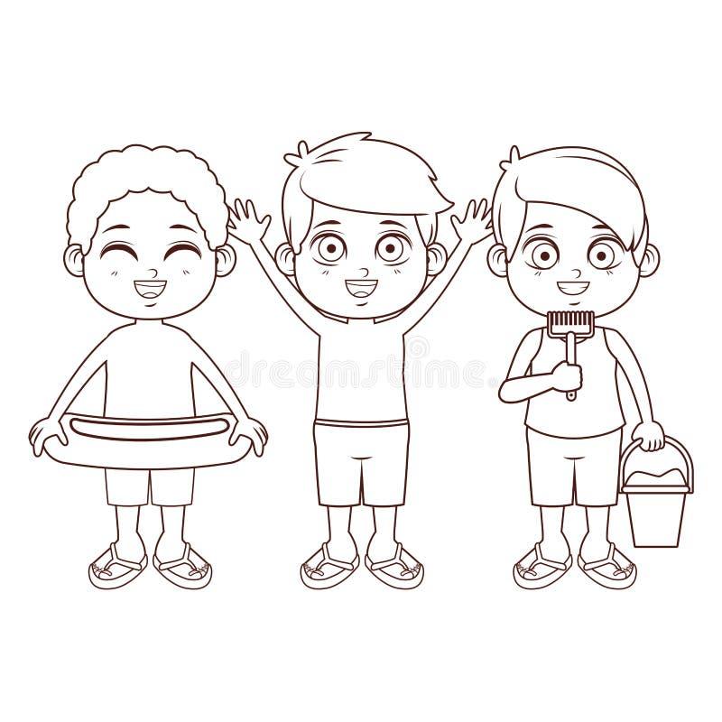 Fumetto sveglio dei ragazzi royalty illustrazione gratis
