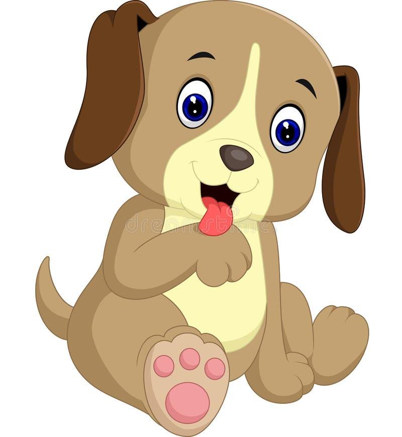 Fumetto sveglio del cane illustrazione di stock