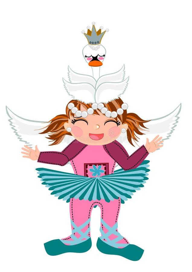 Fumetto sveglio del costume della neonata royalty illustrazione gratis