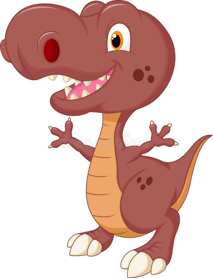 Fumetto sveglio del dinosauro illustrazione di stock
