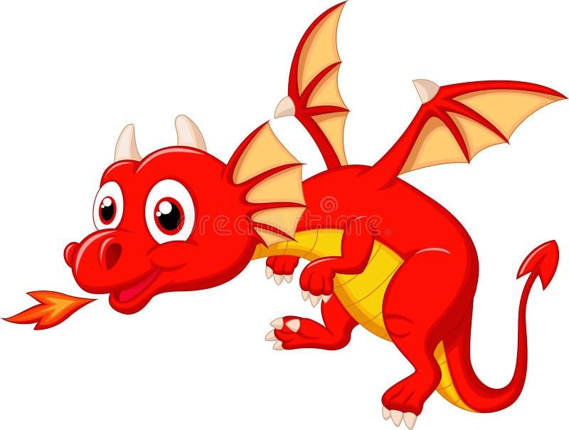 Fumetto sveglio del drago illustrazione di stock