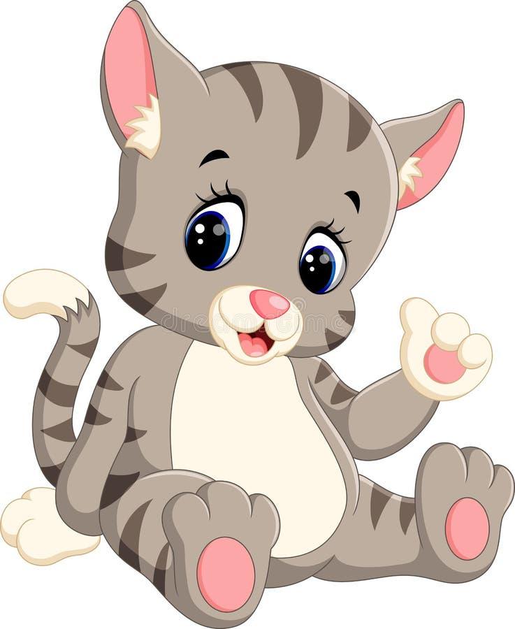 Fumetto sveglio del gatto illustrazione vettoriale