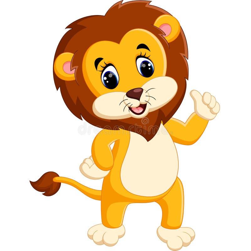 Fumetto sveglio del leone illustrazione di stock