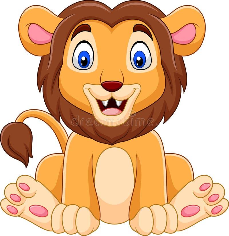 Fumetto sveglio del leone del bambino illustrazione vettoriale