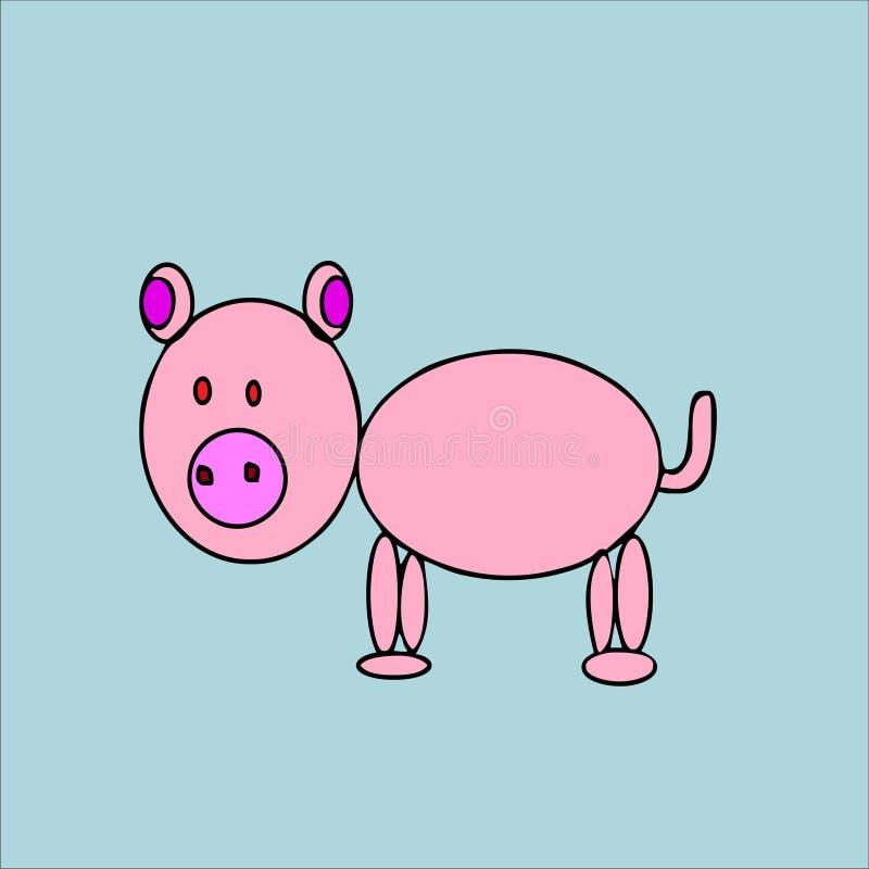 Fumetto sveglio del maiale fotografia stock libera da diritti