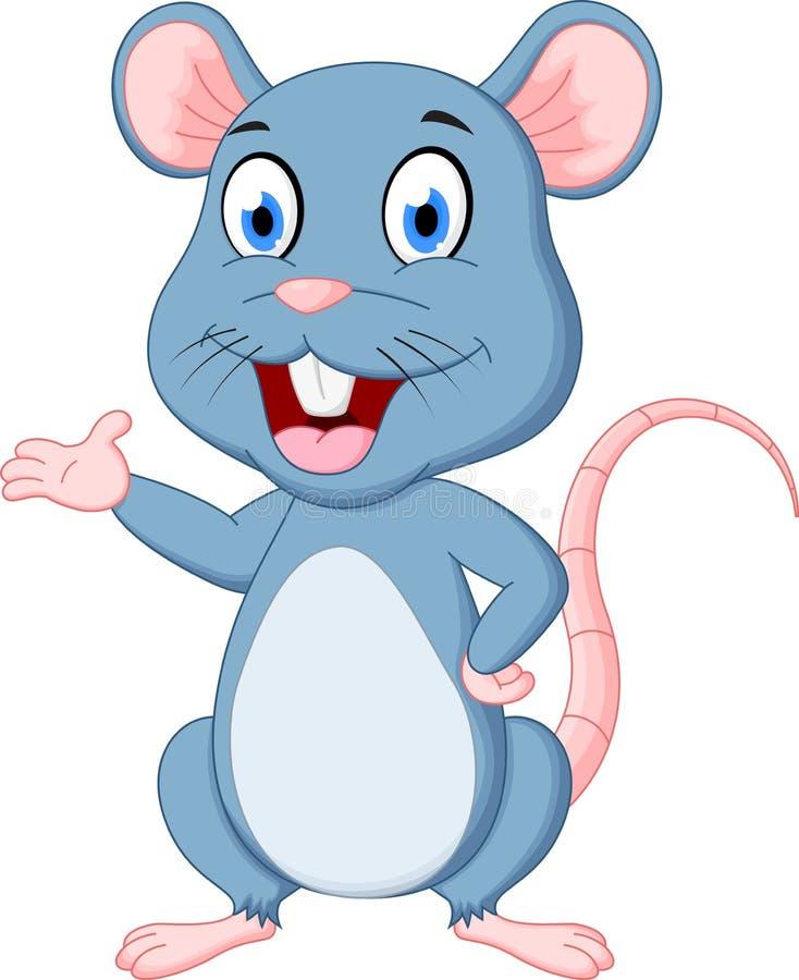 Fumetto sveglio del mouse illustrazione di stock