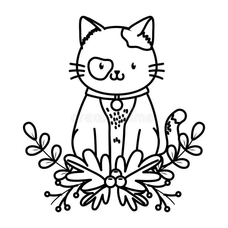Fumetto sveglio dell'animale domestico illustrazione vettoriale