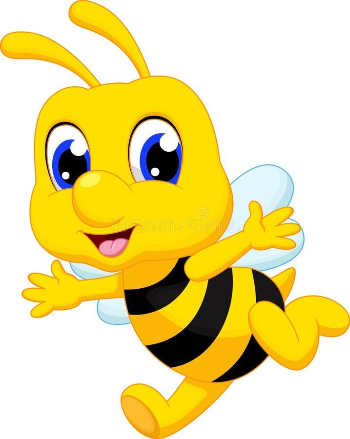 Fumetto sveglio dell'ape illustrazione di stock