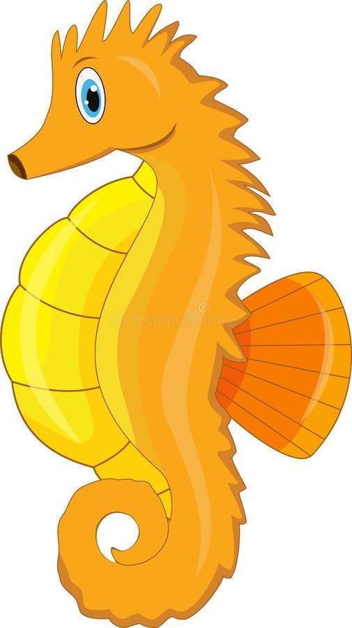 Fumetto sveglio dell'ippocampo royalty illustrazione gratis