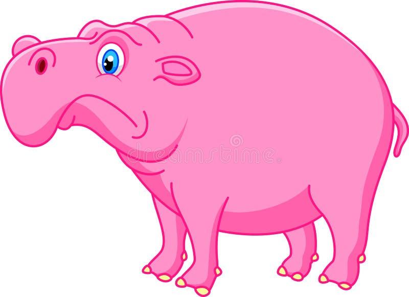 Fumetto sveglio dell'ippopotamo illustrazione di stock