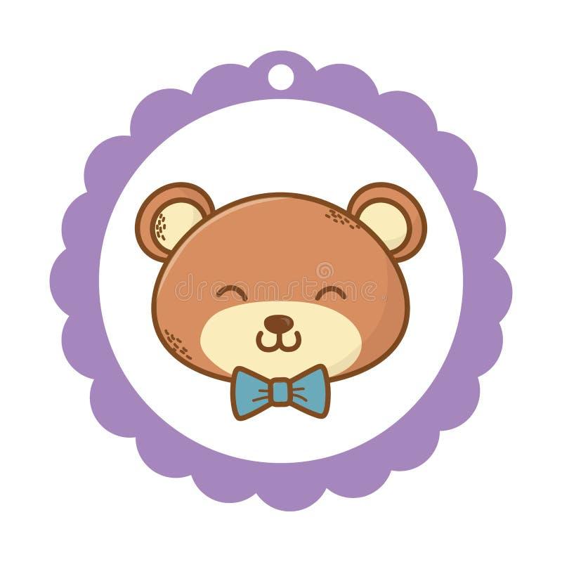 fumetto sveglio dell'orsacchiotto illustrazione di stock