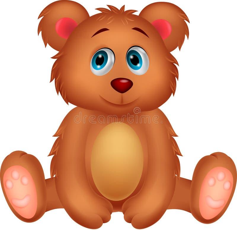 Fumetto sveglio dell'orso del bambino illustrazione di stock