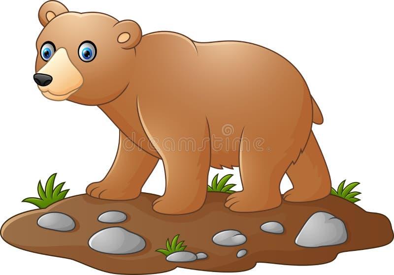 Fumetto sveglio dell'orso del bambino illustrazione vettoriale