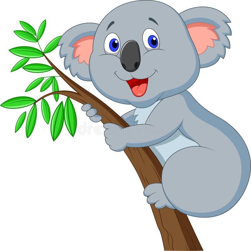Fumetto sveglio della koala illustrazione di stock
