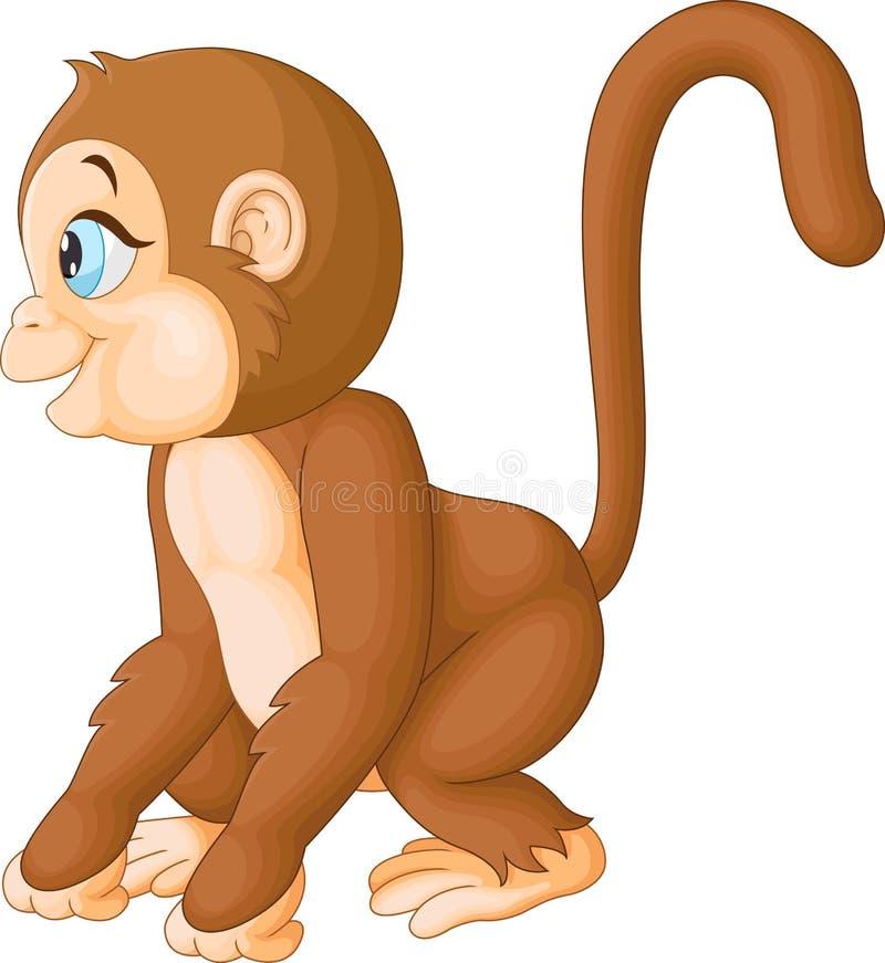 Fumetto sveglio della scimmia royalty illustrazione gratis