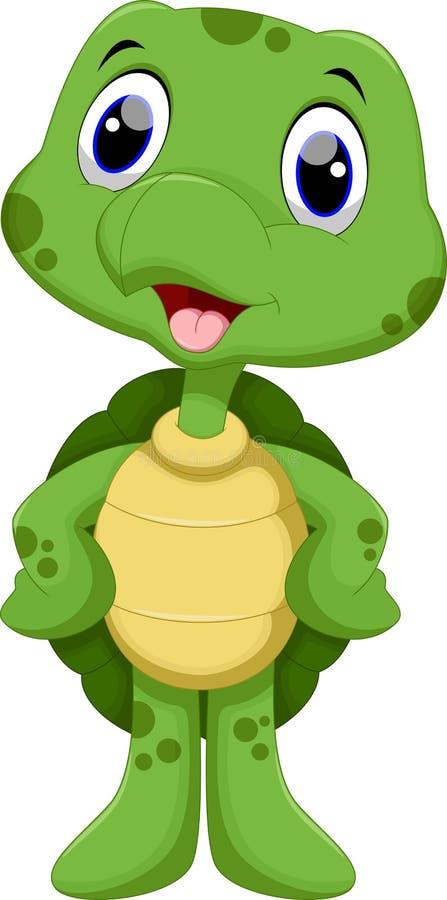 Fumetto sveglio della tartaruga royalty illustrazione gratis
