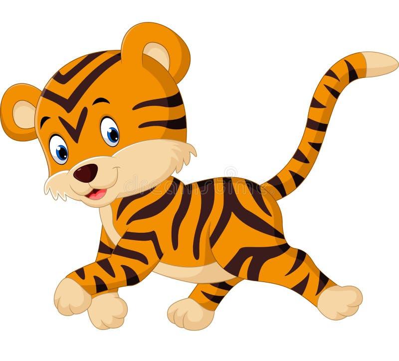 Fumetto sveglio della tigre royalty illustrazione gratis