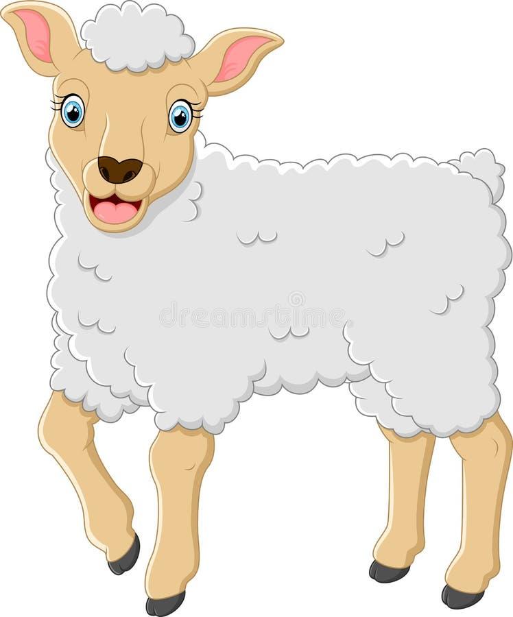 Fumetto sveglio delle pecore illustrazione di stock