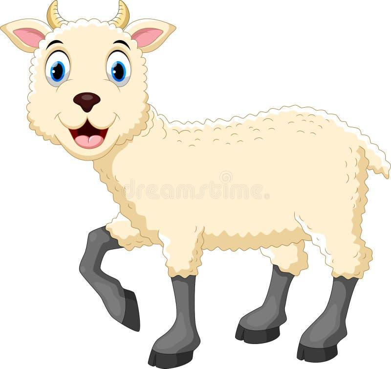 Fumetto sveglio delle pecore illustrazione vettoriale