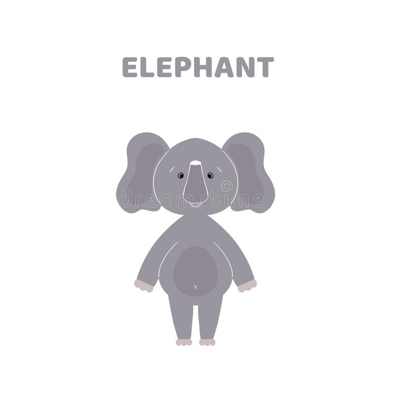 Fumetto un elefante sveglio e divertente royalty illustrazione gratis