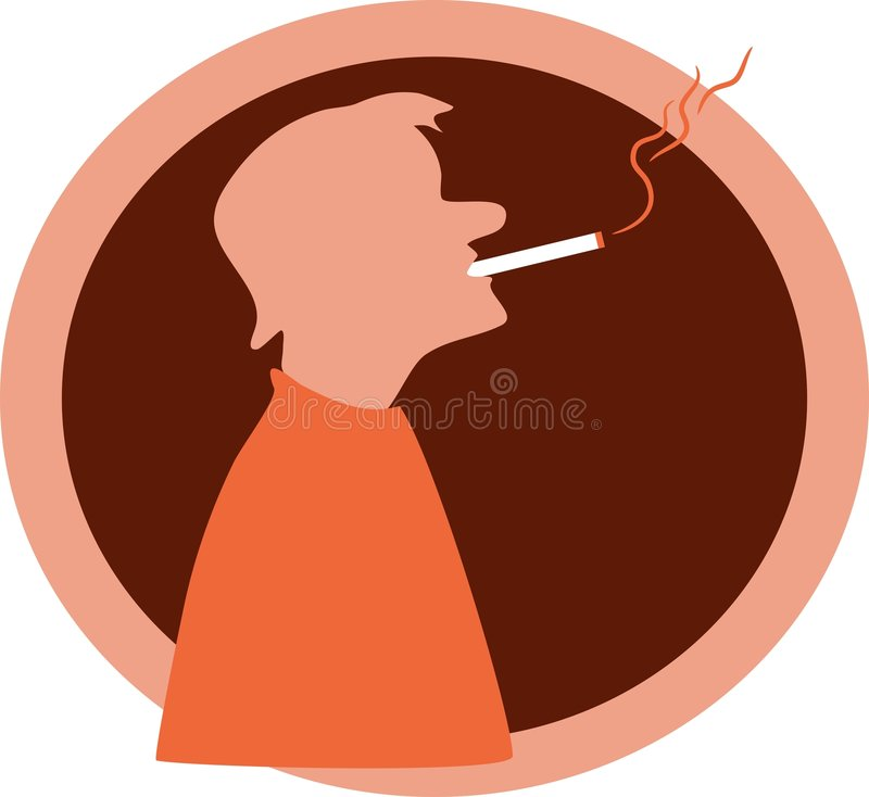 Fumeur illustration libre de droits