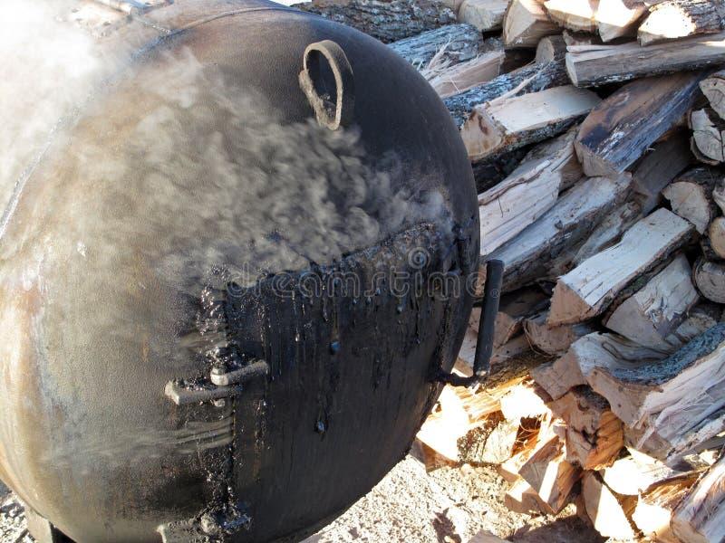 Fumeur de BBQ images libres de droits