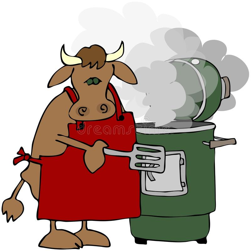 Fumeur de vache illustration stock