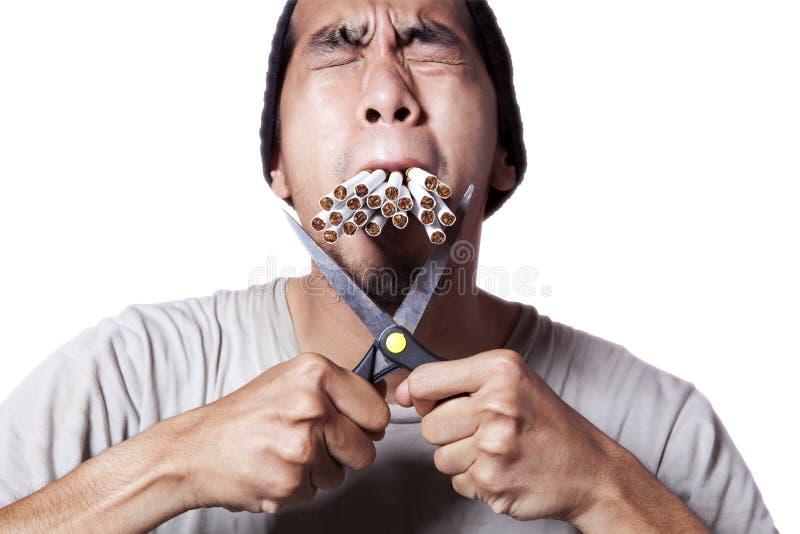 Fumeur dur photographie stock libre de droits