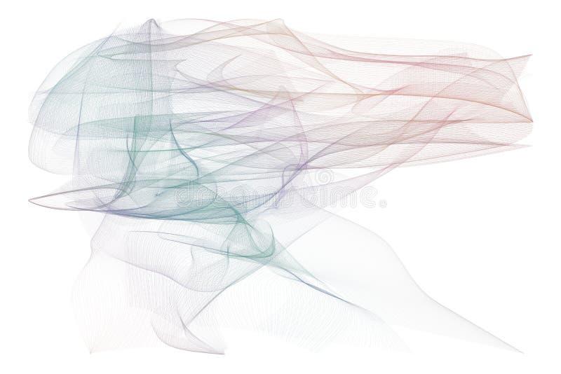 Fumeux abrégé sur fond d'illustrations de schéma, texture artistique Papier peint, calibre, graphique et courbe photos stock