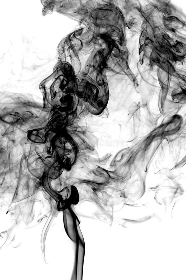 Fumez la photo abstraite, d'isolement sur le fond blanc images libres de droits