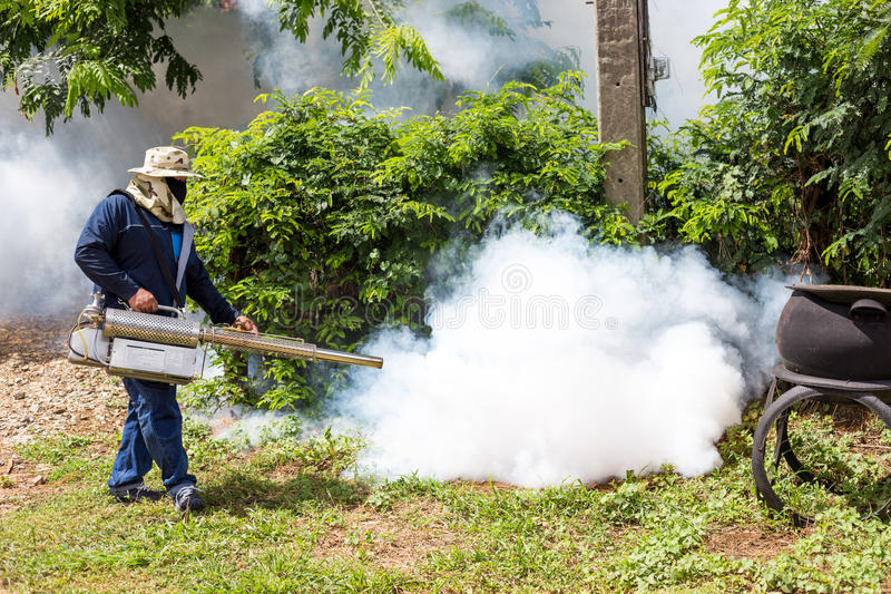 Fumigate mosquito at home for protection mosquito.  stock photos