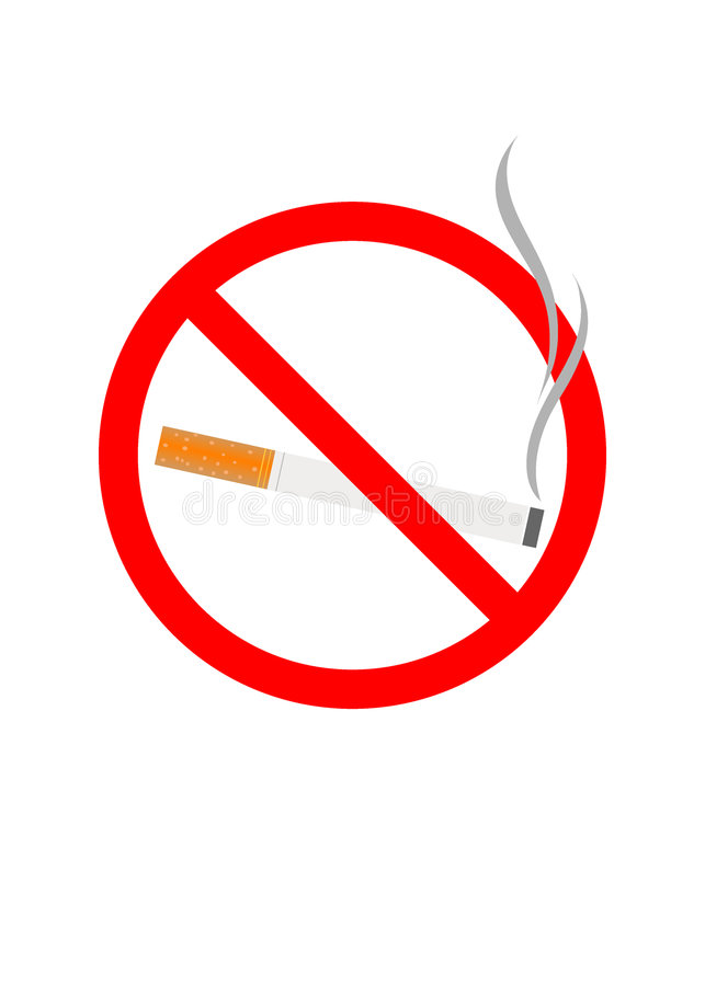 Fumo ilustração royalty free