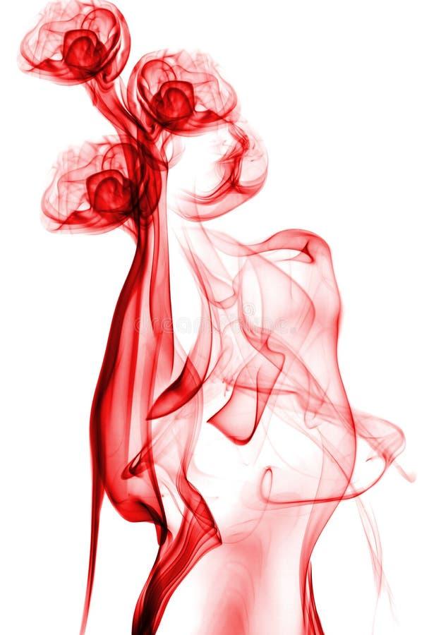Fumo abstrato vermelho fotografia de stock