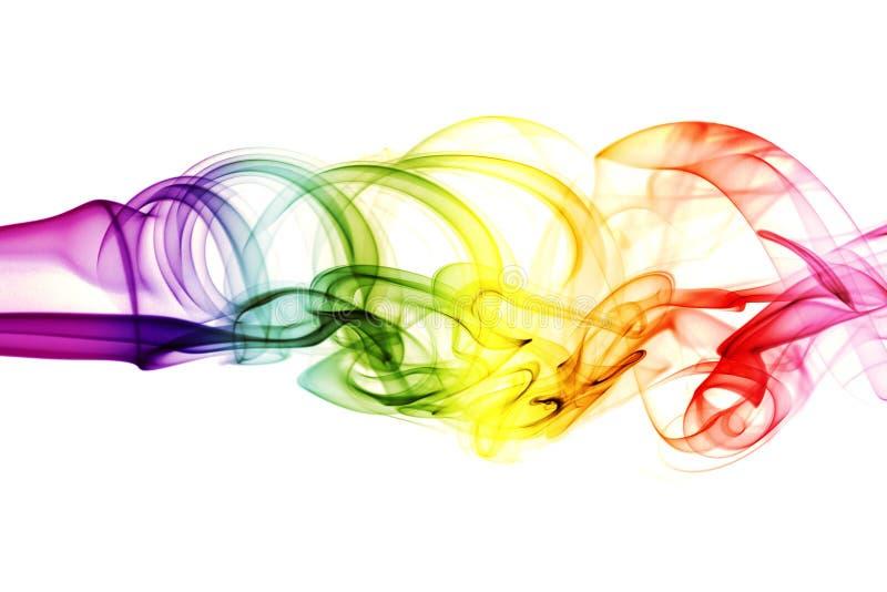 Fumo astratto colorato fotografie stock