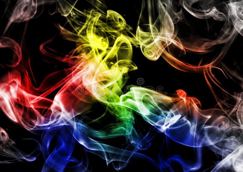 Fumo astratto su fondo scuro fotografia stock
