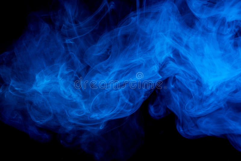 Fumo azul abstrato Weipa fotos de stock royalty free