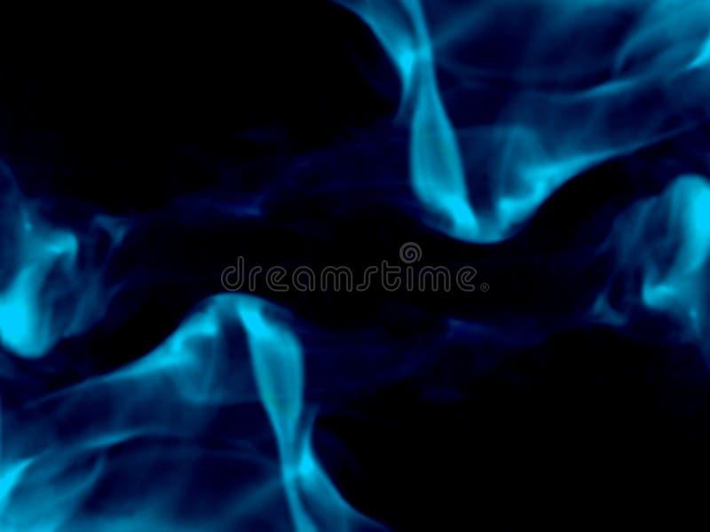Fumo azul fundo preto isolado N?voa abstrata da n?voa do fumo em um fundo preto Textura imagem de stock royalty free