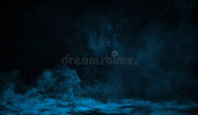 Fumo azul no assoalho Fundo isolado da textura ilustração do vetor