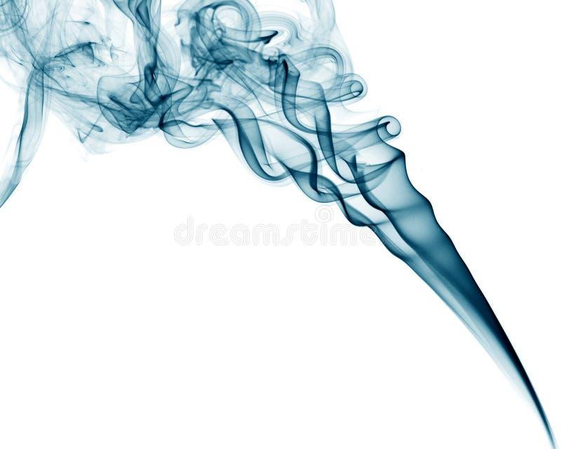 Fumo azul no fundo branco imagens de stock royalty free