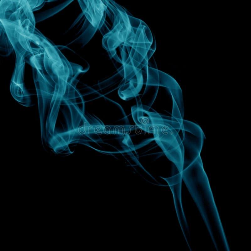 Fumo blu fotografie stock