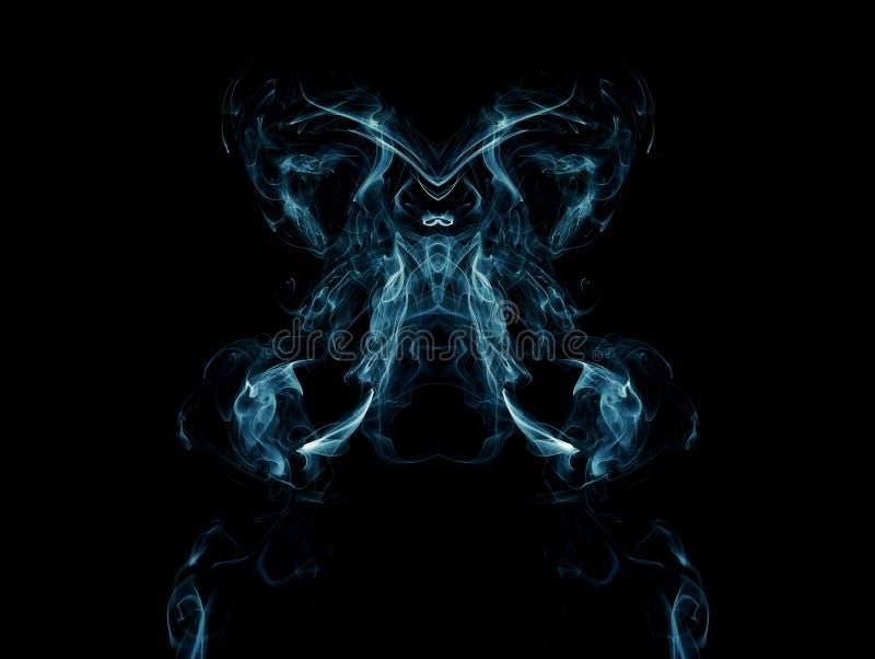 Fumo blu artistico fotografia stock libera da diritti