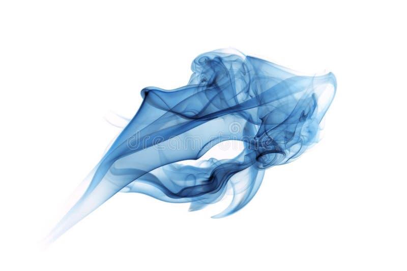 Fumo blu su bianco fotografia stock libera da diritti