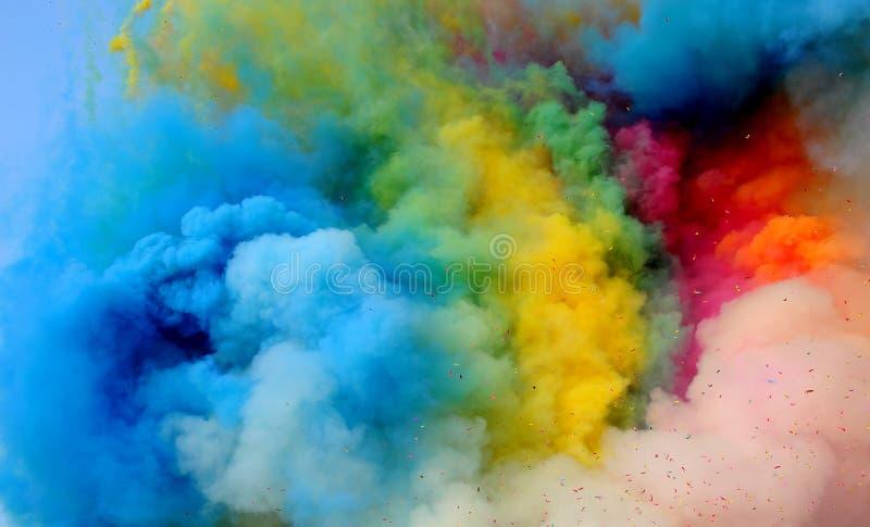 Fumo colorido imagem de stock royalty free