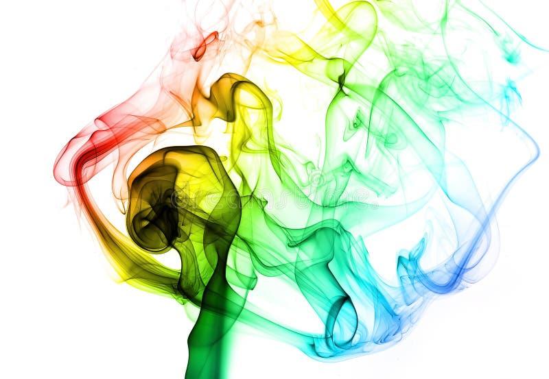 Fumo colorido ilustração stock