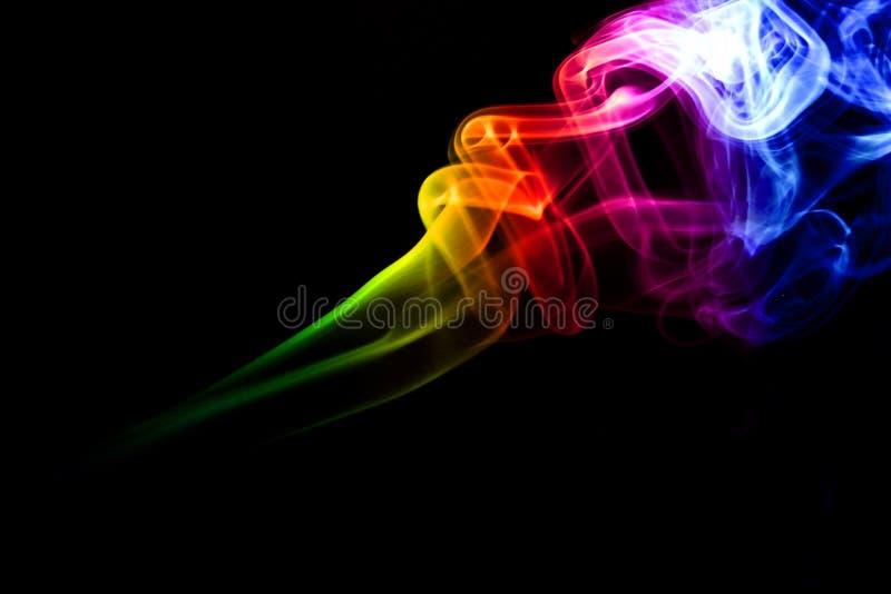 Fumo colorido fotografia de stock